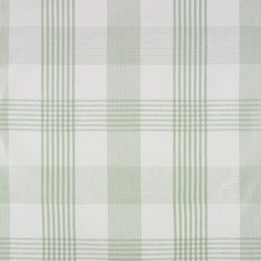 Sage Green Light Check PVC Vinyl Wipe Clean Tablecloth
