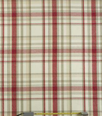 Skye Cranberry Tartan Curtain and Upholstery Fabric