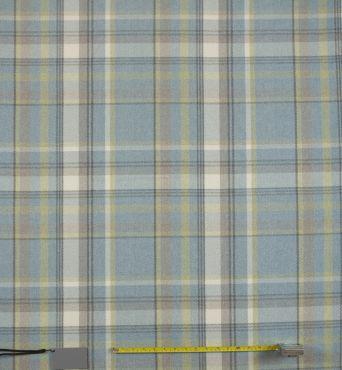 Skye Parisian Blue Tartan Curtain and Upholstery Fabric