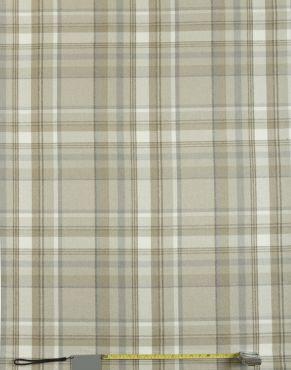 Skye Taupe Tartan Curtain and Upholstery Fabric