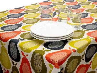 Orla Kiely Pears Wipe clean Tablecloth Oilcoth