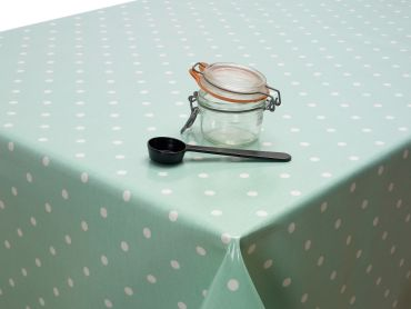Dotty Duck Egg Wipe Clean Oilcloth Tablecloth