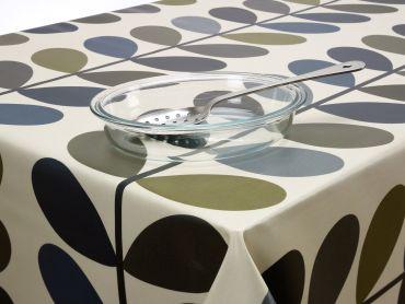 Orla Kiely Multi-Stem Cool Grey Wipe Clean Tablecloth