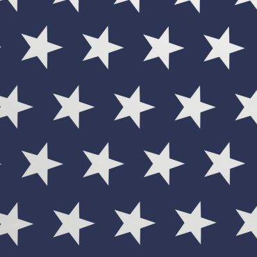 Royal Blue and White Large Star PVC Vinyl Wipe Clean Tablecloth