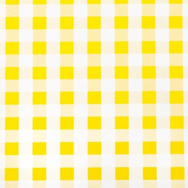 Yellow and White Gingham PVC Wipeclean Tablecloth