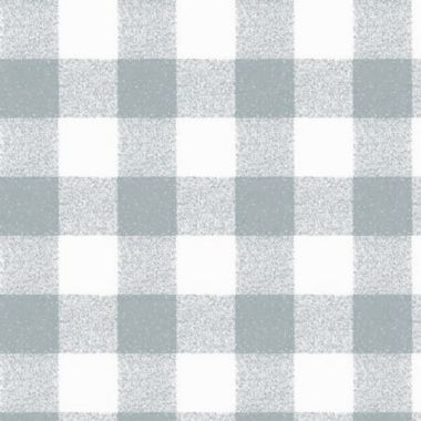 Light Grey and White Gingham Check PVC Vinyl Wipe Clean Tablecloth