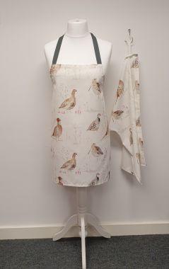 Natural Game Birds Apron and Optional Tea Towel Gift Set