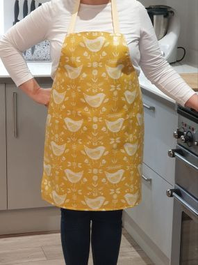 Narvik Ochre Yellow Adult or Child Oilcloth Wipe Clean Apron