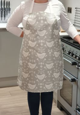 Narvik Grey Adult or Child Oilcloth Wipe Clean Apron