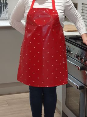 Red and White Star Adult or Child Oilcloth Wipe Clean Apron