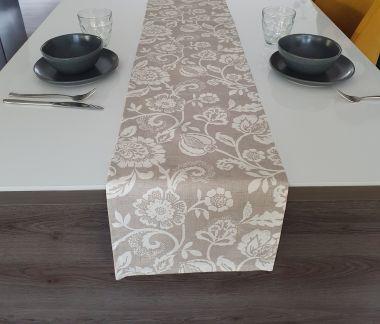 Odense Burnt Orange Fabric Table Runner
