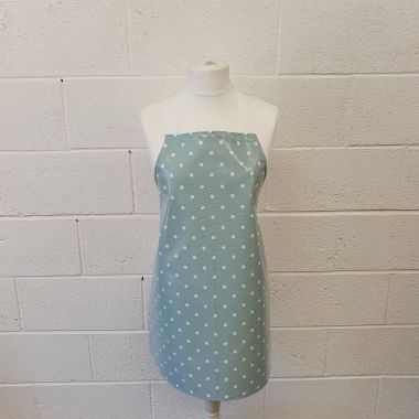 Dotty Duck Egg Oilcloth Wipe Clean Apron-Adult and Child Sizes