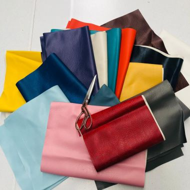 2kg Bag of Offcuts, Remnants Roll Ends Leatherette, Faux Leather-Perfect for Bag Making