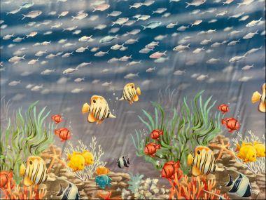 Aquarium Fish PVC Vinyl Wipe Clean Tablecloth