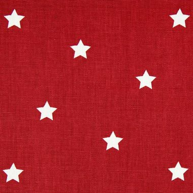Twinkle Deep Red and White Star Oilcloth Wipe Clean Tablecloth
