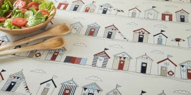 Shabby Chic Beach Houses Oilcloth Wipe Clean Tablecloth