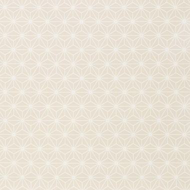 Beige star and Geometric Linear Cubes PVC Vinyl Wipe Clean Tablecloth