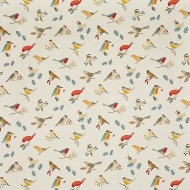 Beige Pajaro Abstract Birds Oilcloth Wipe Clean Set of 4 or 6 Placemats