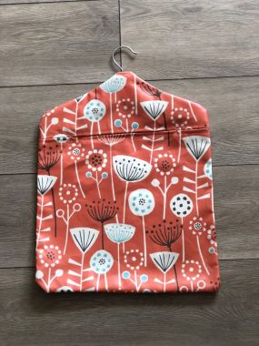 Bergen Burnt Orange Wipe Clean Oilcloth Peg Bag