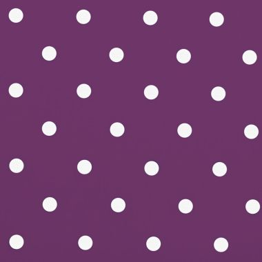 Dotty Berry Purple Polka Dot Oilcloth Wipe Clean Tablecloth