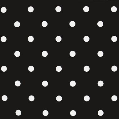 Dotty Charcoal Black Polka Dot Curtain and Upholstery Fabric
