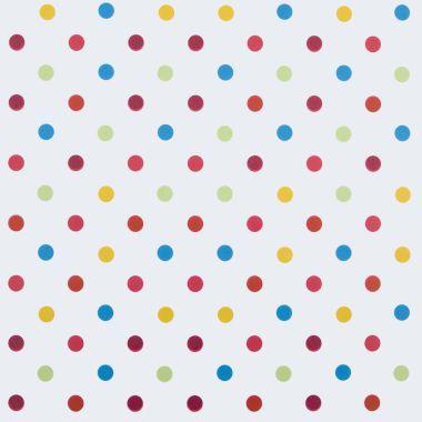 Multi Colour Polka Dot PVC Vinyl Wipe Clean Tablecloth