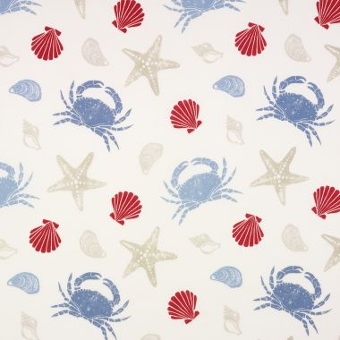 Beach Huts Oilcloth Tablecloth Wipeclean