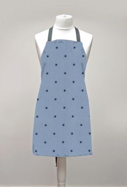 Blue Stars Adult or Child Oilcloth Wipe Clean Apron