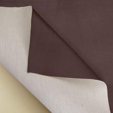 Plain Chocolate Brown Faux Leather Leatherette Vinyl
