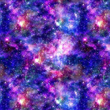 Crafting Quilting 100% Cotton Fabric Purple Space Stellar Galaxy Star