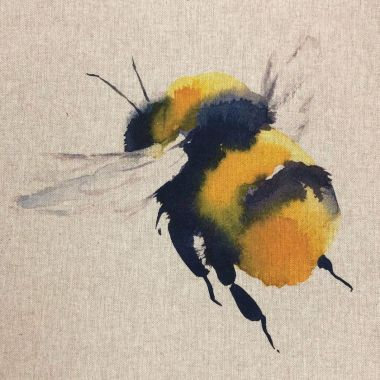 "Queen Bee 18"" x 18"" Cushion/Bag Panel"