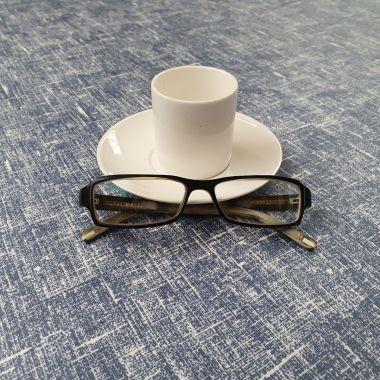 Plain Taupe Linen matte Oilcloth Tablecloth