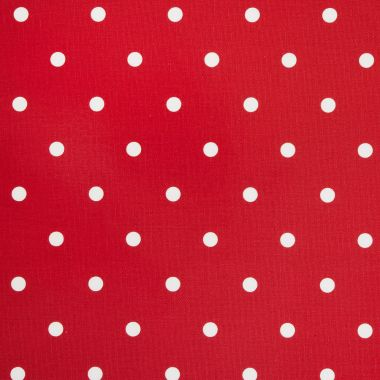 Dotty Multi Red Polka Dot Curtain and Upholstery Fabric