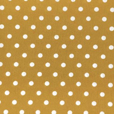Dotty Mustard Yellow Polka Dot Curtain and Upholstery Fabric