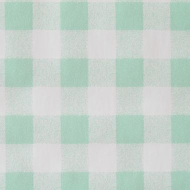 Taupe and White Gingham Check PVC Vinyl Wipe Clean Tablecloth
