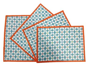 Duck Egg Marguerite Oilcloth Wipe Clean Set of 4/6 or 8 Placemats