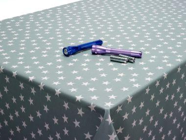 Blue Star Oilcloth Tablecloth Fabric