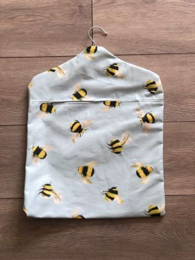 Duck Egg Honey Bees Wipe Clean Oilcloth Peg Bag