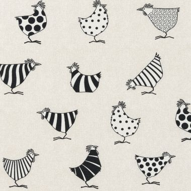 Beige Crazy Chickens Acrylic Wipe Clean Tablecloth