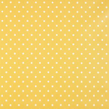 Small Dot Ochre Yellow Polka Dot PVC Vinyl Wipe Clean Tablecloth