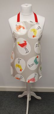 Grey Funky Chickens Adult or Child PVC Vinyl Wipe Clean Apron