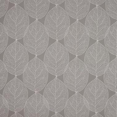 Grey Large Leaf PVC Vinyl Wipe Clean Tablecloth