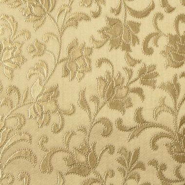 Gold Embossed Floral PVC Vinyl Wipe Clean Tablecloth