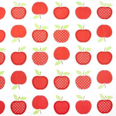 Red Apple Design PVC Vinyl Wipe Clean Tablecloth