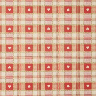 Red Heart Check PVC Vinyl Wipe Clean Tablecloth