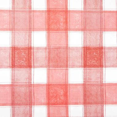 Red Traditional Checked PVC Vinyl Wipe Clean Tablecloth