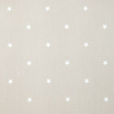 Taupe and White Star Oilcloth Wipe Clean Tablecloth