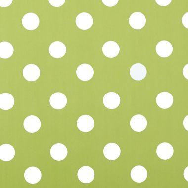 Jasmine Green & White Polka Dot PVC Vinyl Tablecloth