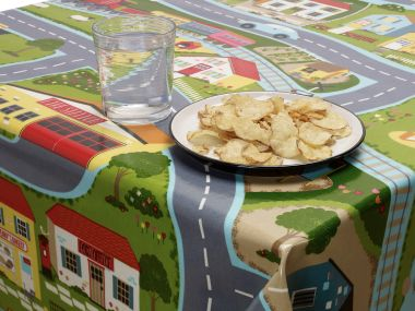 Kids Road Map Wipe Clean Tablecloth