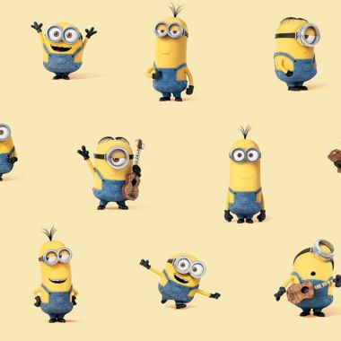 Yellow Minions Crafting and Curtain 100% Cotton Fabric